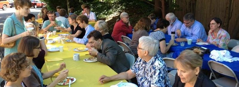 Ice cream social tables 2012